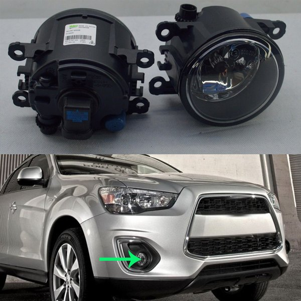 2pcs For Mitsubishi Outlander Sport 2013-15 Car Vehicle Front Bumper Fog Driving Light Lamp COVER WITH BULBS LEFT + RIGHT