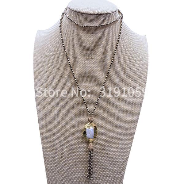 Nouveau collier de perles de colonnaire noir vintage valeur de chaîne chaîne de cloison au-dessus de bijoux de commerce extérieur européens et américains
