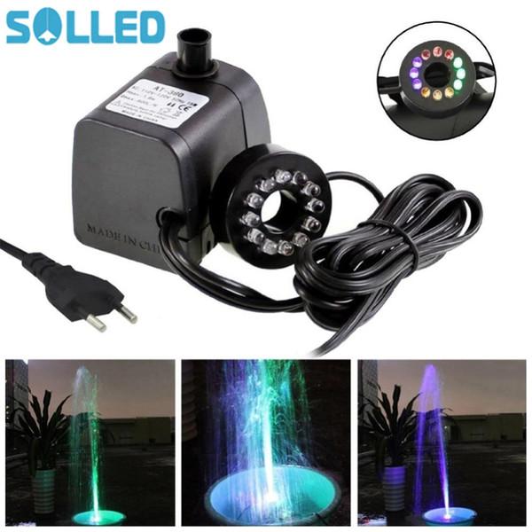 Pompe à eau submersible avec lumière LED pour aquariums KOI Cascade fontaine