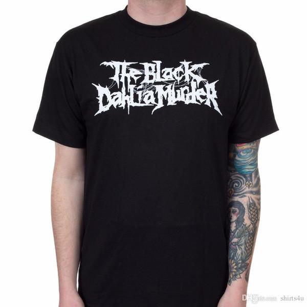 Camisas de Humor de Manga Curta Impressão O Assassinato da Dália Negra homens Nightbringers T-Shirt Do Logotipo Preto Tripulação Pescoço Camisa Para Homens