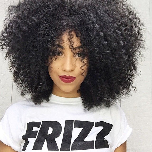 14 inch Kinky Curly african Wigs Full Natural Short Curly Wigs Human 180% density Lace Front Wigs for Black Women