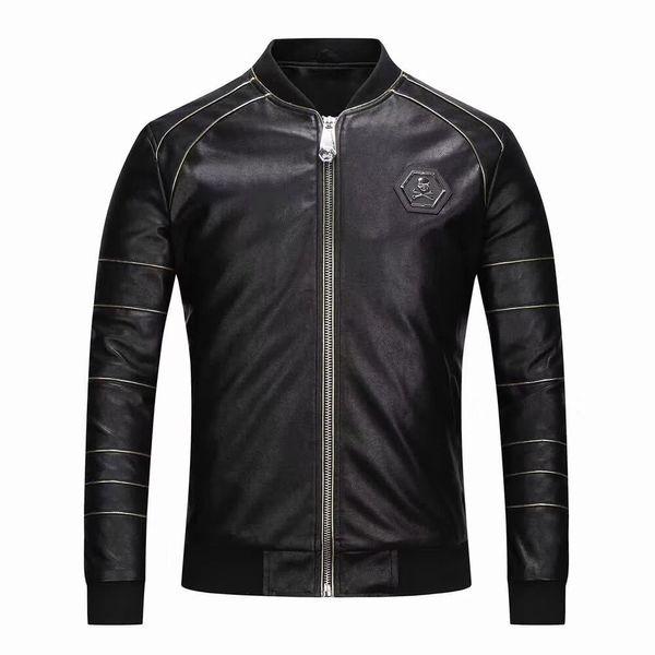 DHL 2018 high quality Italian style brand men's faux fur coat fashion pilot draft imported pp suede jacket men's slim version shirt M-3XL