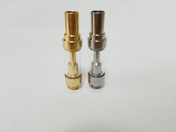 Gold Silver TH210 cartouche de vape TH205 cartouche de vape 510 fil Réservoir en verre Bobine en céramique Pointe en céramique 0.5ml Kingpen Fumeur vaporisateur