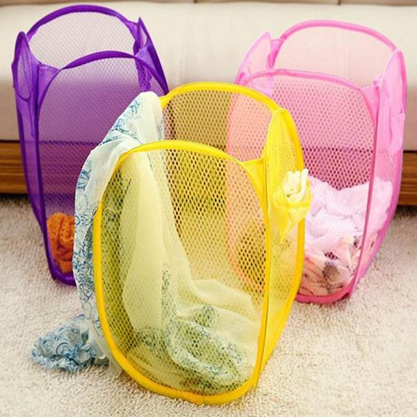 FUNIQUE Foldable Clothes Storage Baskets Mesh Washing Dirty Clothes Laundry Basket Portable Sundries Organizer Toy Container New