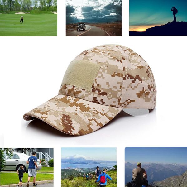 Sombrero de camuflaje táctico del ejército gorra de béisbol acampar al aire  libre que va de e6175029fa6