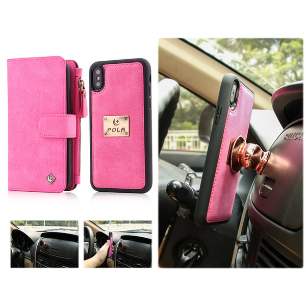2 in 1 Multifunction Leather Wallet Phone Phone Case for iPhone X 6 6S 7 8 Plus