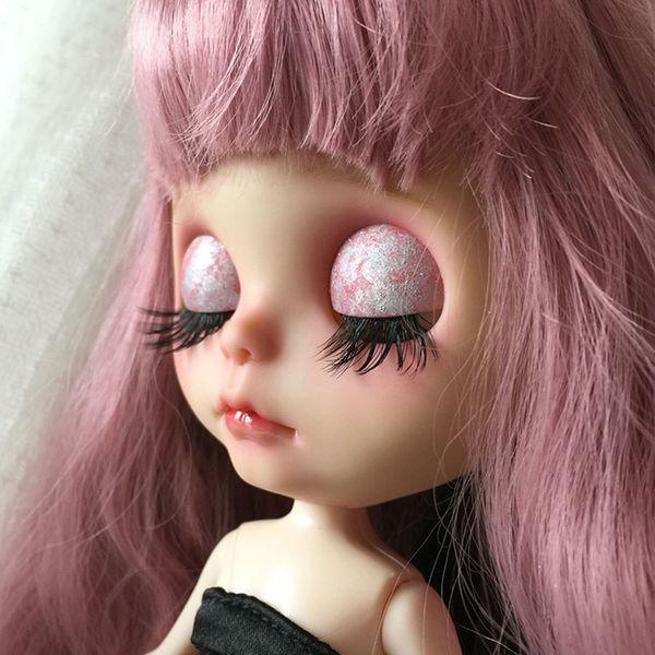New 1:6 Black Dolls Big Pretty Eye Make Up Fake Eyelashes For Blythe 1/6  Doll 12'' Dolls Accessories DIY Making Repair Girl Accessories Dolls World
