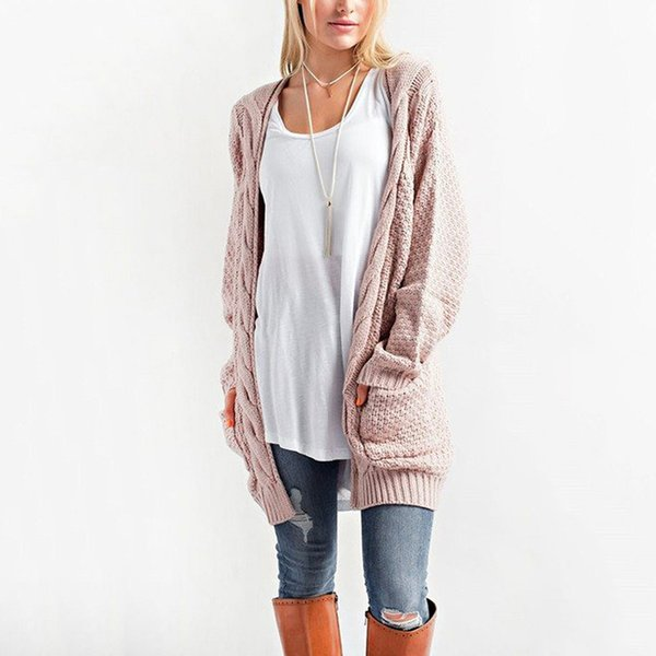 Long Sleeve Loose Knitting Cardigans Women Autumn Winter Casual Loose Pockets Coverup Tops Female Sweater Plus Size 3XL DLD1150