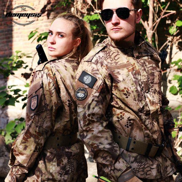 Taktische Männer Camouflage Kleidung Special Forces Combat Shirt Soldat Training Kleidung Set Armee Im Freien Uniform