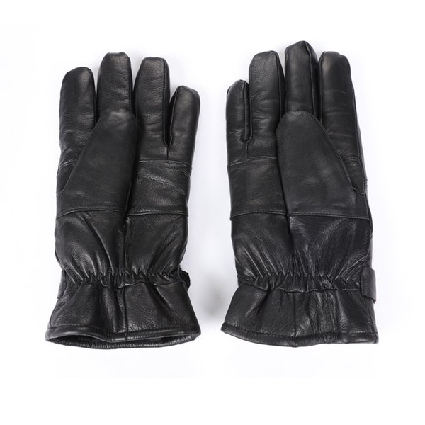 Men's leather gloves, thick, warm, and easy to wear one size.