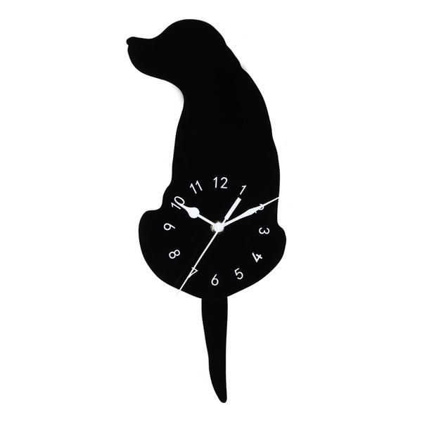 wanduhr uhr 3d diy acryl kreative cartoon niedlichen hund wanduhr wohnkultur europa stil wohnzimmer 2018