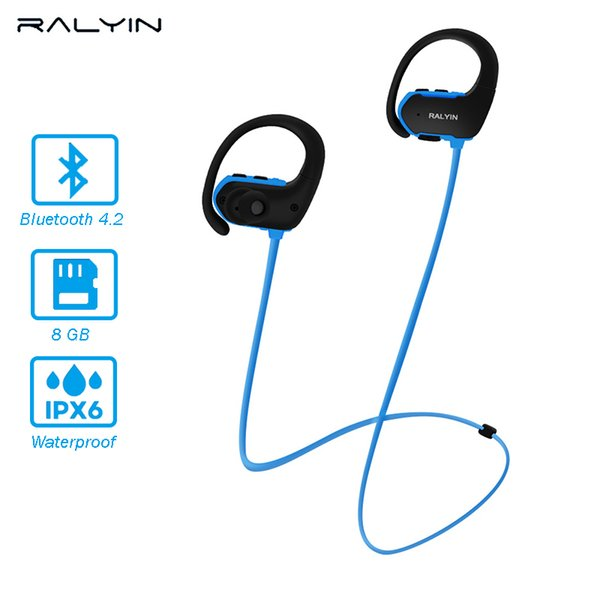 Hot sale Bluetooth headphones waterproof wireless sports MP3 player bluetooth earphone with mic for phone iPhone xiaomi
