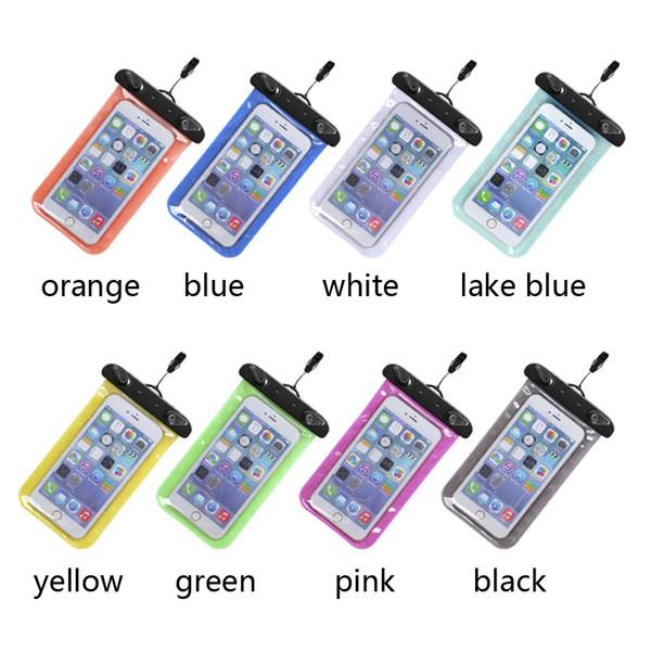 Sacchetto impermeabile di nuoto della borsa asciutta subacquea della borsa impermeabile del sacchetto del telefono cellulare mini borsa per la cassa del telefono dello schermo di tocco di Smartphone