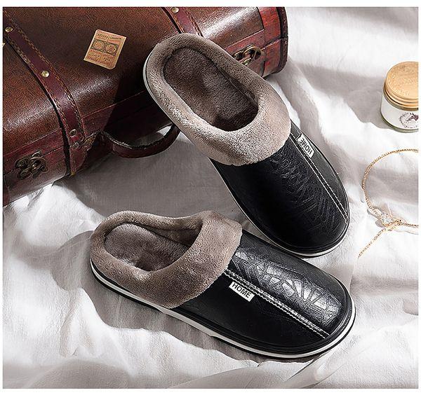 Slippers women indoor waterproof home slippers winter women anti dirty plush shoes ladies non-slip big size