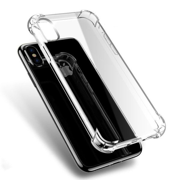Per Iphone XR XS MAX 8 X 7 6 6S Samsung S9 S8 Plus Note 9 8 Cover Soft Air Cuscino TPU acrilico per Iphone8