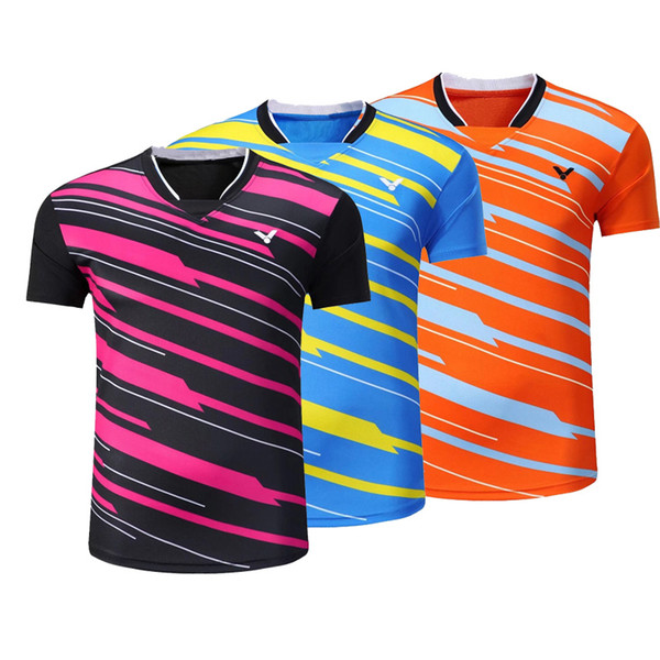 New victory badminton T-shirt, men and women sportswear, summer fast dry Breathable tennis shirt, free shipping