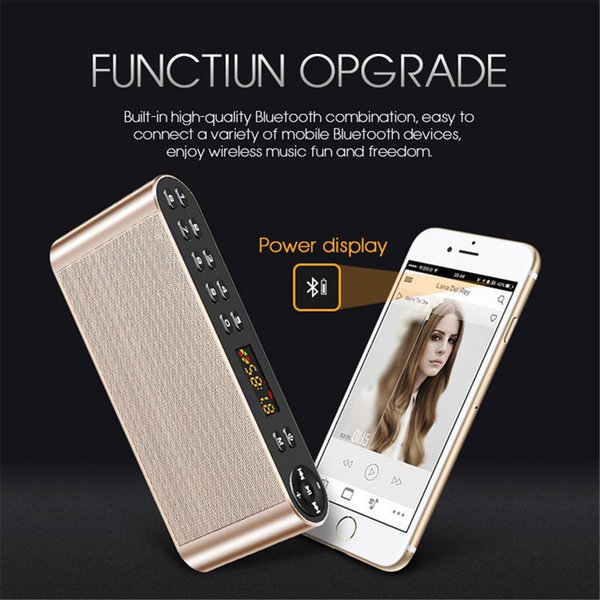 Q8 Bluetooth Speaker Portable Wireless Handsfree Pocket Audio Speaker Subwoofer HiFi Led Display Speaker with Mic