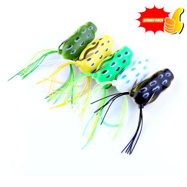 Kopper Live Target Top Water Frog Fishing Lure 5.5CM/11G Set Snakehead curls Topwater Frog curls Simulation lure 50Pcs wholesale