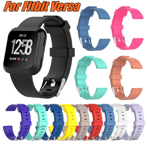 For Fitbit Versa Replacement Straps Soft Silicone Wrist Watch Band Wearable Belt Strap With 13 Colors And Large Small Size