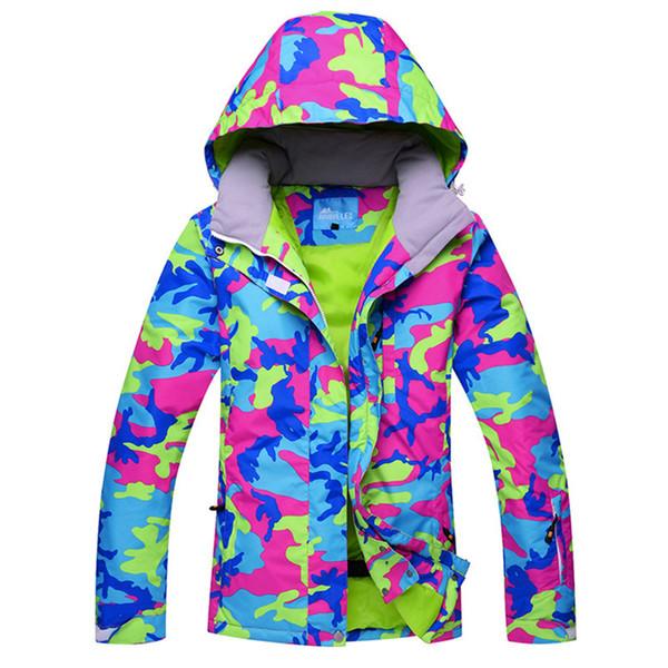 Großhandel Neue Heiße Ski Jacke Frauen Skianzug Winter Wasserdichte Billig Skianzug Outdoor Camping Weiblichen Mantel 2018 Snowboard Kleidung Camo Von