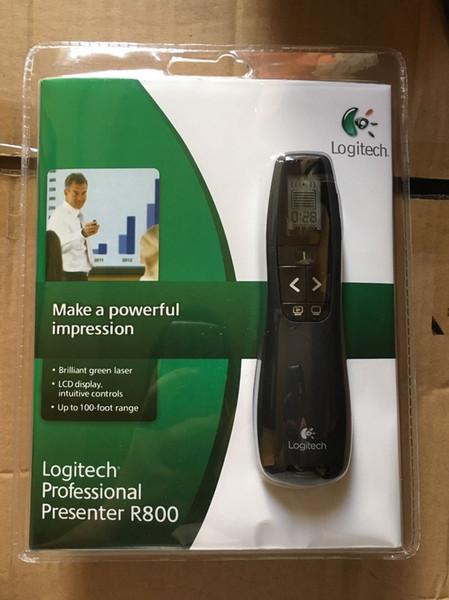 Nova Chegada R800 Profissional Sem Fio Apresentador Controle Remoto com Laser Verde laser R800 apresentador com pacote de varejo