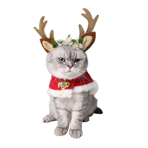 Outdoors Hairpin Pet Hair Band Accessory Merry Christmas Dog Hat Cat Decoration Mori Girl Celestial Deer Head Hoop 16 5gy gg