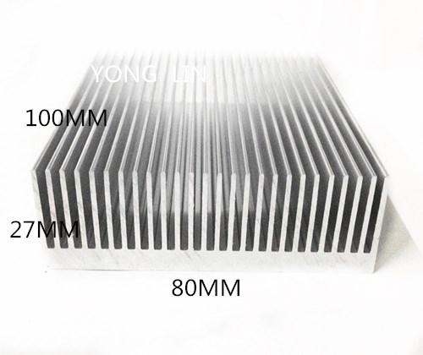 Wholesale- 1 piece aluminum heatsink 80*27-100MM IC Heatsink/LED heatsink/Cooling radiator