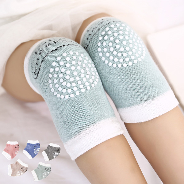 best selling 5 colors Toddlers kneepads baby anti-slip Knee pads infant crawling safty protection props knitting kneepads Mats C4433