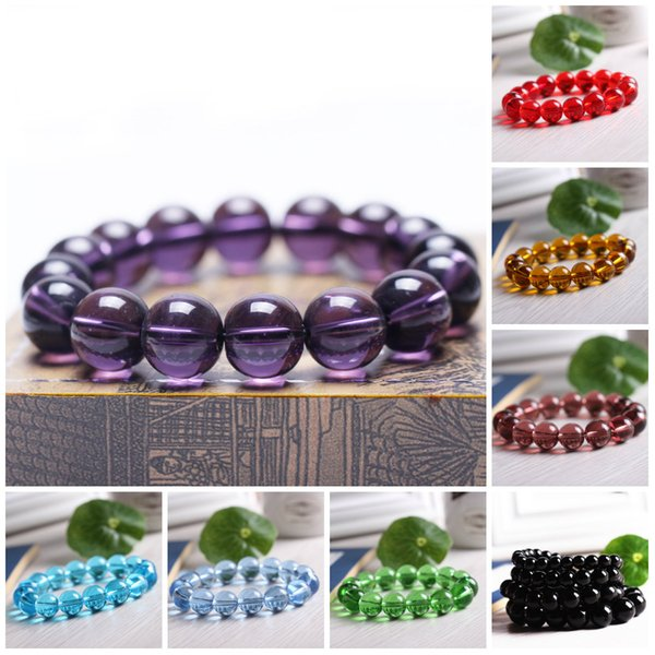 Beaded Bracelets Stretch 8mm Natural Stone Bracelet Beads Jewelry Carnelian Amethyst Round Beads Bracelet Purple Healing Crystal Bracelets