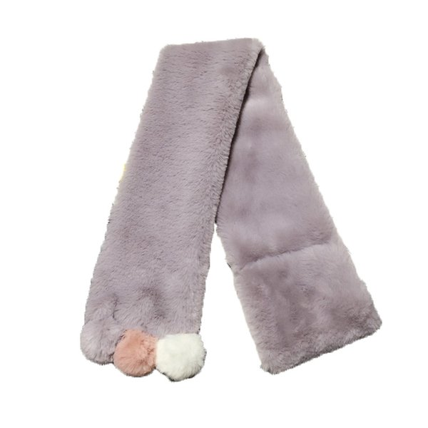 New autumn and winter Korean version of solid color with three ball baby scarf set neck warm boys and girls plush children scarf