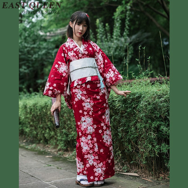 color atractivo zapatos para correr linda Compre Vestido Japonés Cosplay Kimono Japonés Tradicional Largo Yukata  Haori Kimonos Mujer 2018 KK2347 A $96.55 Del Dayup | DHgate.Com
