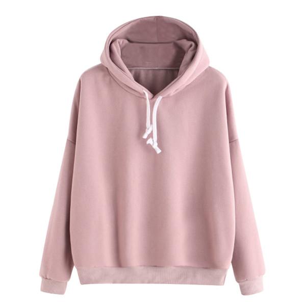 Herbst sweatshirts frauen 2018 rosa frauen mit kapuze hoodies damen langarm lässig mit kapuze pullover kleidung sweatshirt
