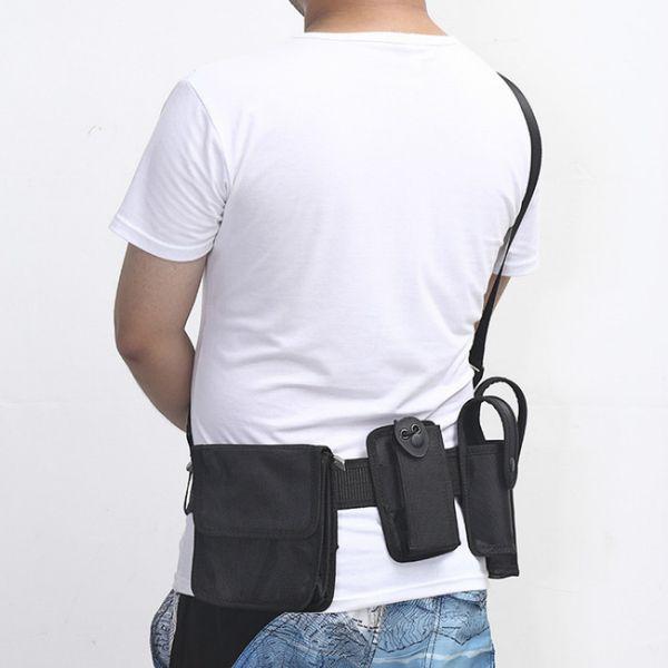 5 Pieces SWAT cmen Belt Shoulder Band Multi-function Tactical Belt Outdoor Leisure Security Products Black