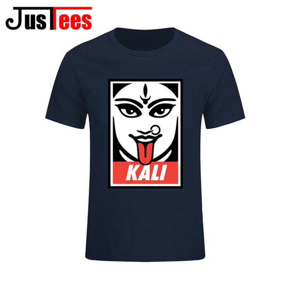 Hindu Goddess Kali II T-Shirt Men Youth Pure Cotton Short Sleeve Man Tee Shirt Clothes Boys Classical Kali T Shirt Tops Clothing