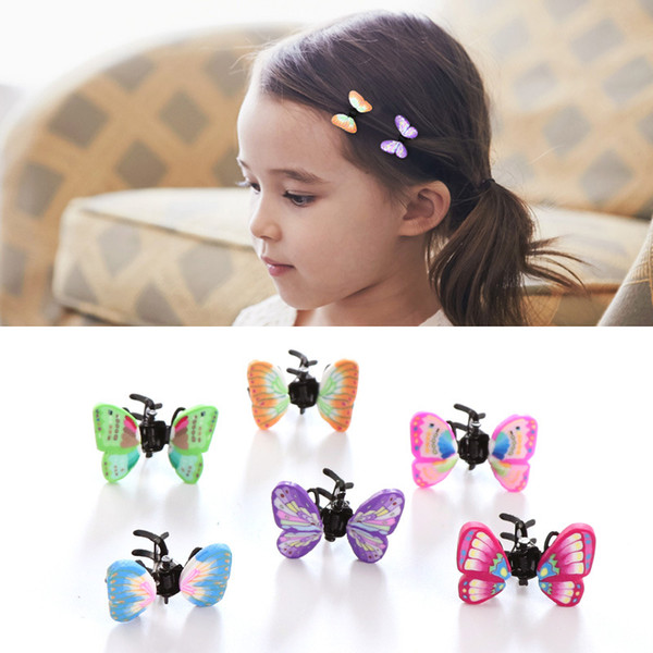 6/pcs Girls Alloy Crab Claw Clip Retro Butterfly Hairpin Children Hair Accessories Cute Hair Clips Headwear Kids Baby Headdress