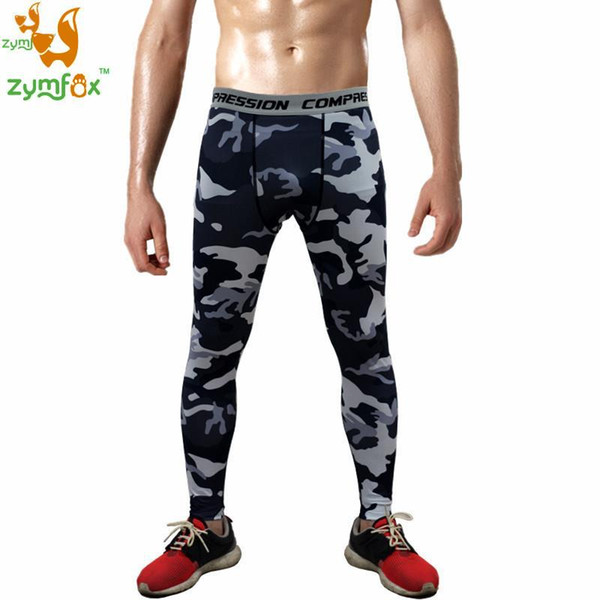 ZYMFOX Sport Leggings Compression Tights Shorts Ropa Ciclismo Cycling Clothing Sports Wear for Men Gym Running Men Trousers