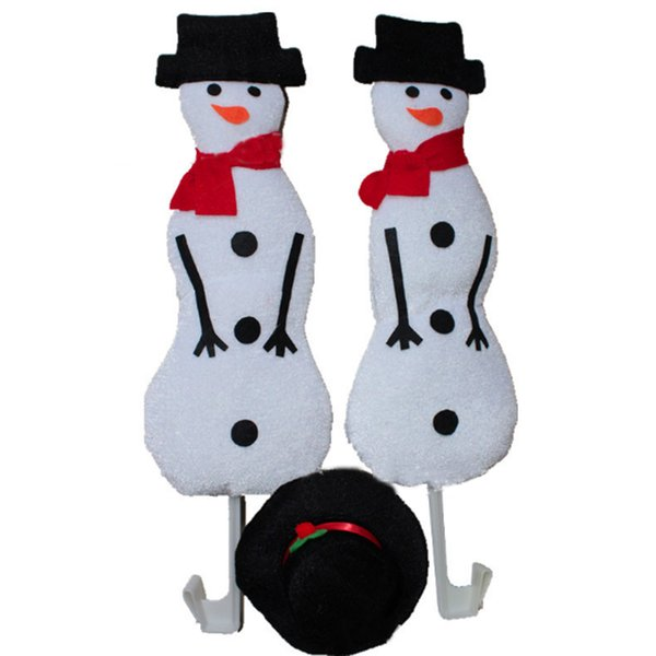 New Snowman CHRISTMAS Car Costume Snowman & Formal hat Set Auto Outfits The Original Xmas Reindeer Nose Antler Car Costume Kit