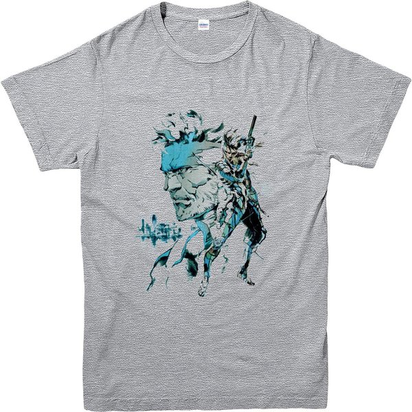 Metal Gear Solid T-Shirt, Solid Snake Inspired Design Top Men Brand Clothihng Top Quality Fashion Mens T Shirt 100%Cotton