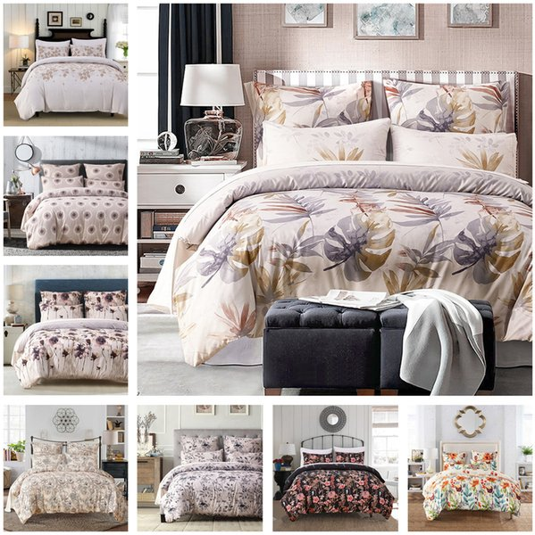 New Floral Design Bedding Set Of 2PC-3PC Duvet Cover Set Quilt Cover Pillowcase Twin Queen King Size Factory Price