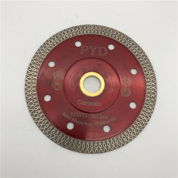 Turbo Saw Blade 4.5 inch (115 mm) for Porcelain Ceramic Tile Marble Cutting Blade Disc Cutter Diamond Disk inner Hole 22.23 mm or 5/8-11