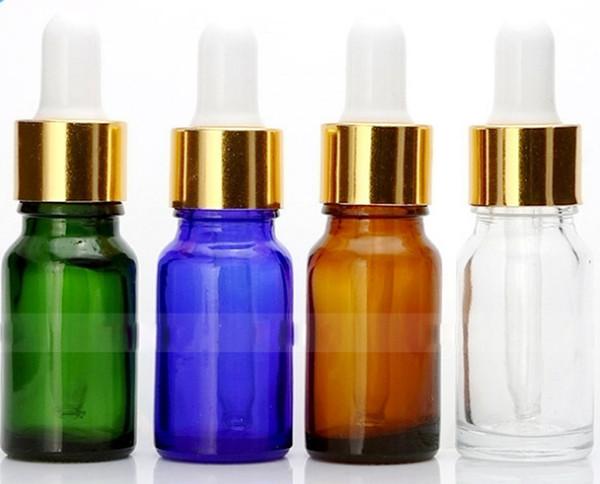 Wholesale Price 768pcs 10ml Glass Eye Dropper Bottle, Clear Amber Green Blue ESSENTIAL OIL BOTTLE, 10 ml Portable Small Perfume Bottles