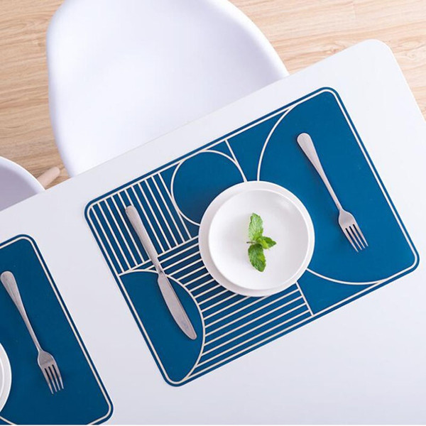 Heat-insulated Tableware Plastic Placemat Kitchen Dinning Bowl Dish Waterproof Pad Home Restaurant Table Mat Free Shipping ZA6231