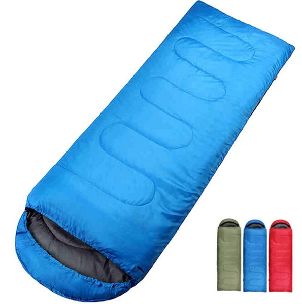 Outdoor Camping Sleeping Bag for Spring & Autumn Adult Children Envelope Hooded Cotton Sleep Bag high quality