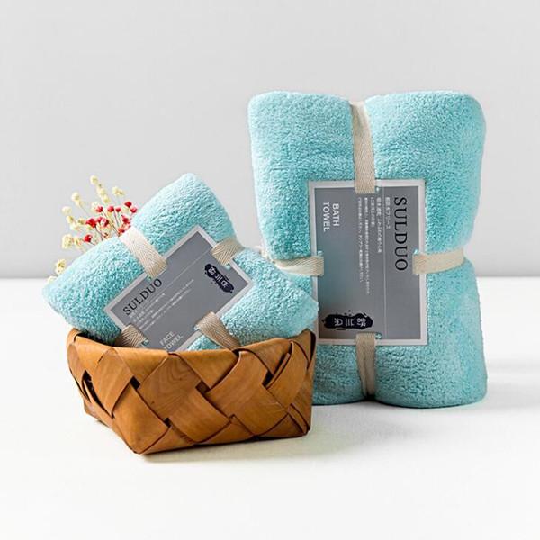 2 шт/комплект для взрослых полотенце ванная комната супер-впитывающее быстросохнущие микрофибры толстое полотенце халат ванна волос полотенца