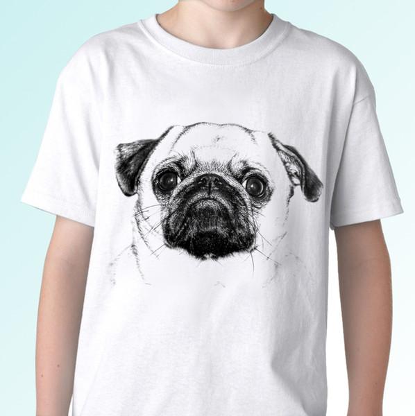Mops Pug white t shirt chinese dog dutch bulldog top tee White Tees T-Shirt Clothing Summer