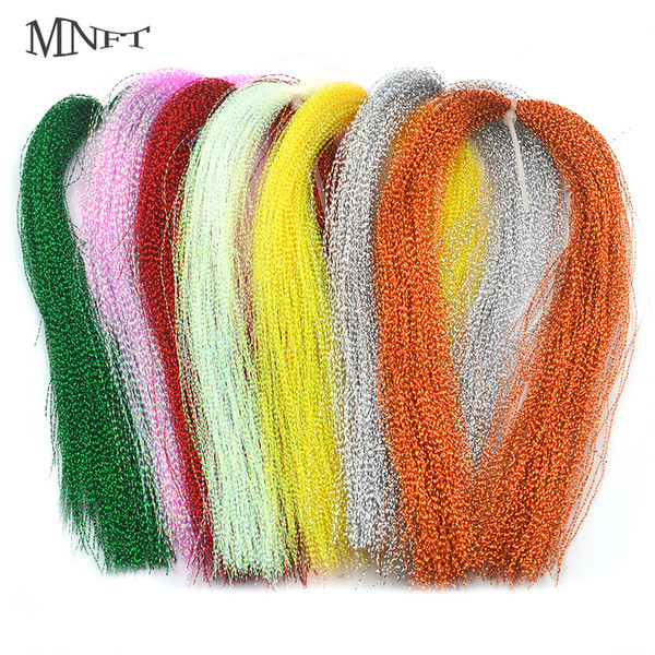 MNFT 3 Packs Flashabou Holographic Tinsel Fly Fishing Tying Crystal Flash String Jig Hook Lure Making Twisted Strands Material Y18100906
