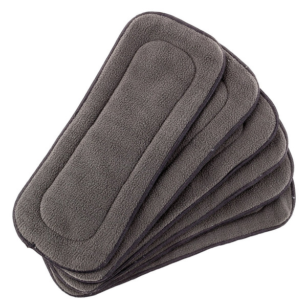 best selling Baby 5 Layer Charcoal Bamboo Inserts Reusable Liners for Cloth Diapers