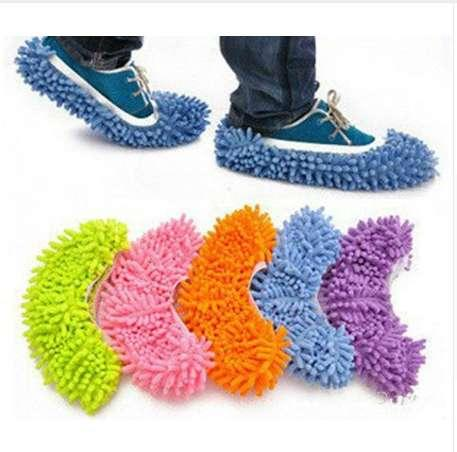 Eco-friendly Polyester Cleaning Cloths House Bathroom Floor Cleaning Microfiber Mop Cloths Clean Slipper