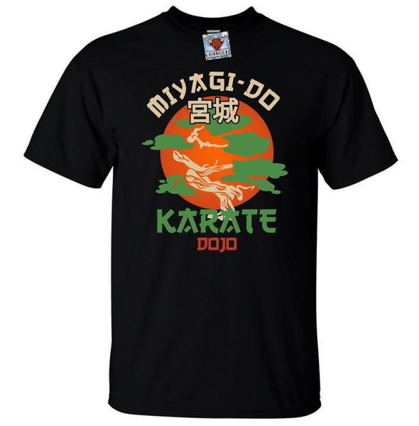Mens Miyagi Do Jo T-Shirt-Camisa Engraçada de T Karate Martialer Artser 80 s Retro Fresco Camiseta de Algodão Moda Frete Grátis