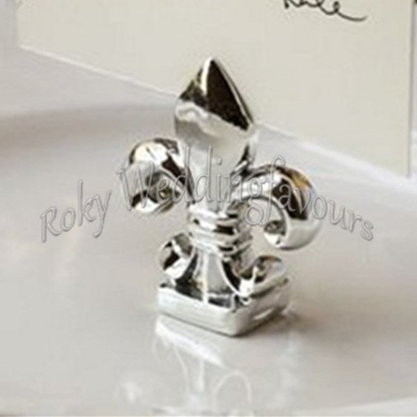 Free Shipping 20PCS Fleur De Lis Place Card Holder Wedding Party Favors Anniversary Table Decors Gifts Bridal Shower